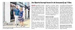 Jes-Sports in de krant met nieuwe winkel